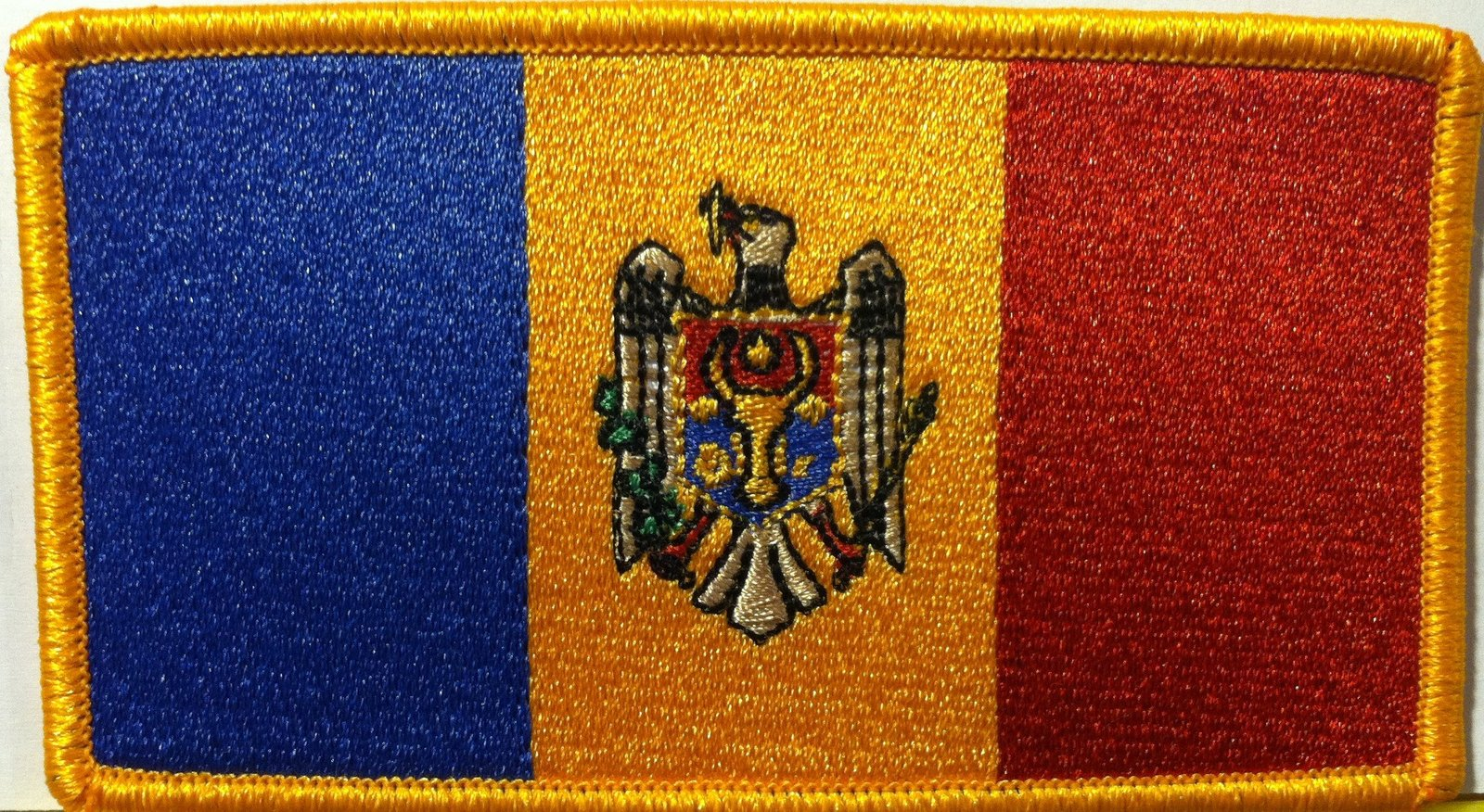 Primary image for Moldova Embroidery Iron-on Patch Emblem Gold Border