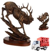 Bronze Sculpture Statue Finish Antiqued Art Buc... - $69.28