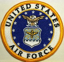 United States Air Force Embroidery Iron-on Patch USAF Emblem - $4.79