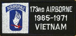 173 RD AIRBORNE 1965-1971 VIETNAM Emblem Embroidery Iron-on Patch Black ... - $4.29