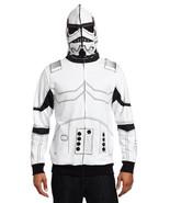 Men's Stormtrooper Character Zipper Sweatshirt Full Face Mask Hooded Hoodie - $39.99