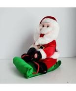 Dan Dee Animated Santa on Sled Sings Oh Santa's Coming Down Chimney Watc... - $24.99