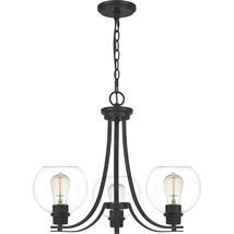 Pruitt 3-Light Chandelier in Matte Black - $259.99