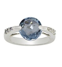 Fabulous Blue Topaz Gemstone Solid 925 Sterling Silver Jewelry Ring S 6 ... - $32.69