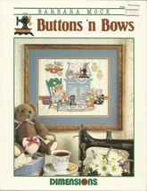 Buttons n Bows Cross Stitch Pattern Leaflet No. 185 Dimensions Inc Barba... - $9.98