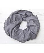 Gray Pashmina Scarf Valentines Day Gift Large Women Scarf Gift for Wife - $31.10 CAD