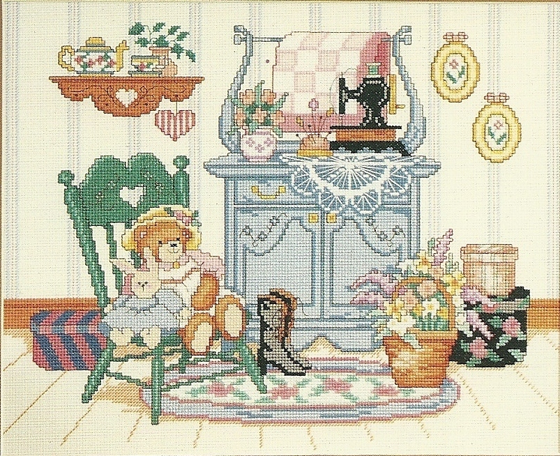 Buttons n Bows Cross Stitch Pattern Leaflet No. 185 Dimensions Inc Barbara Mock