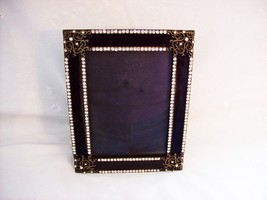 Black Glass 3 x 5 Photo Frame, with Stones. - $1.97