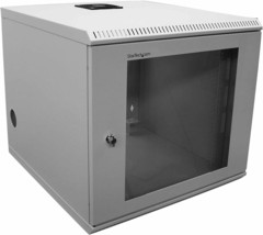 "Startech 10U 19"" Wall Mounted Server Rack Locking Cabinet Windowed CAB1019WALL - $299.99"