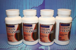 4, COLON CLEANSER,  Healthy Colon Support, bacticure, LINAZA, bioxcell, 1800 - $16.92