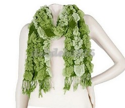 Layers by Lizden Bubble Wrap Scarf with Fringe - $15.83