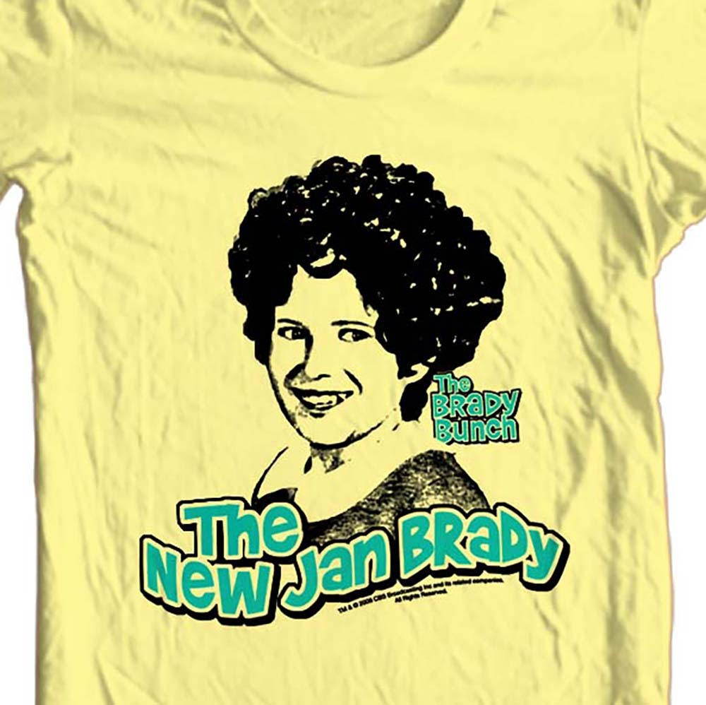 The brady bunch new jan brady yellow graphic tee t shirt