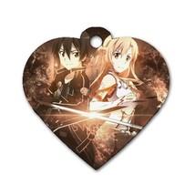 Custom Personalized Heart Dog Id Tag Sword Art ... - $11.99
