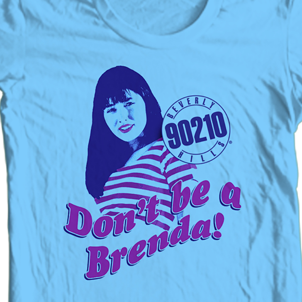 "Beverly Hills 90210 ""Don't Be A Brenda"" T-shirt 80's 90's retro CBS157"