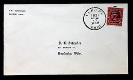 US Stamp Sc #647 on Cover Aug 17, 1931 Elmore Ohio - $49.99