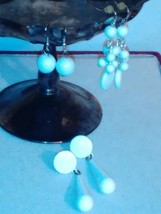 Artist style  simple white dangle  earrings - $8.50