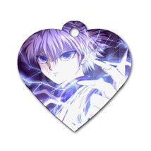 Custom Personalized Heart Pet Dog Name Id Tag - Anime Hunter X Hunder Do... - $11.99