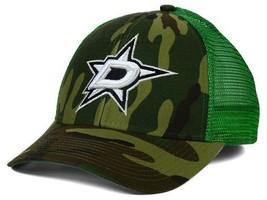 "Dallas Stars NHL Reebok ""Camo Trucker"" Adjustable Snapback Hat - $15.79"