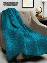 W325 Crochet PATTERN ONLY Cabled Hills of Ireland Throw Afghan Pattern - $12.50