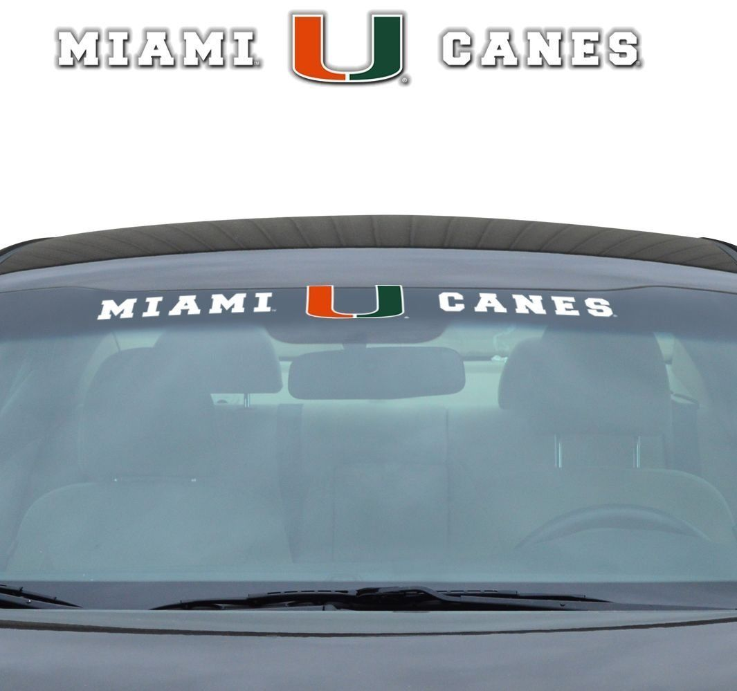"MIAMI HURRICANES 35"" X 4"" WINDSHIELD - REAR WINDOW DECAL CAR TRUCK NCAA"