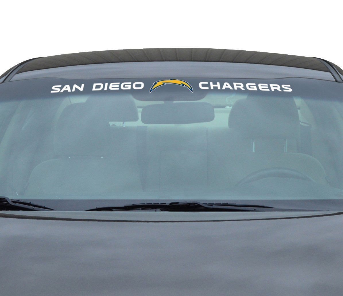 "SAN DIEGO CHARGERS 35"" X 4"" WINDSHIELD REAR WINDOW DECAL CAR TRUCK NFL FOOTBALL"