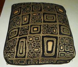Black Gold Abstract Print Decorative Pillow  21 x 21 - $39.95