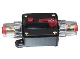 APS NC SHIPPING 100A pole 1 Inline Circuit Breaker Fuse for 12V Protecti... - $12.19