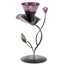 6 Purple/black, LILAC LILY PAD TEALIGHT HOLDER Wedding Centerpieces - $49.95