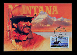 US Maximum Card US Stamp Scott #2401 FDC 1989 MONTANA Stamp - $9.99