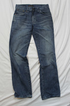 Nudie Jeans Slim Jim Org. Indigo Beat 100% Organic Cotton Sz 31x32 Made ... - $55.98