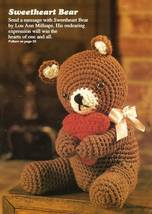 Y357 Crochet PATTERN ONLY Sweetheart Valentine Bear Doll Toy Pattern - $10.50