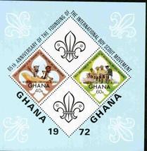 GHANA 1972 IMPER SHEET O/P BOYSCOUTS MNH S12185-3 - $4.46
