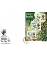 GUINEA GUINEE 2012 GIRL GUIDES SCOUTING STAMP ON STAMP FDC 15732-A3 - $31.28 CAD