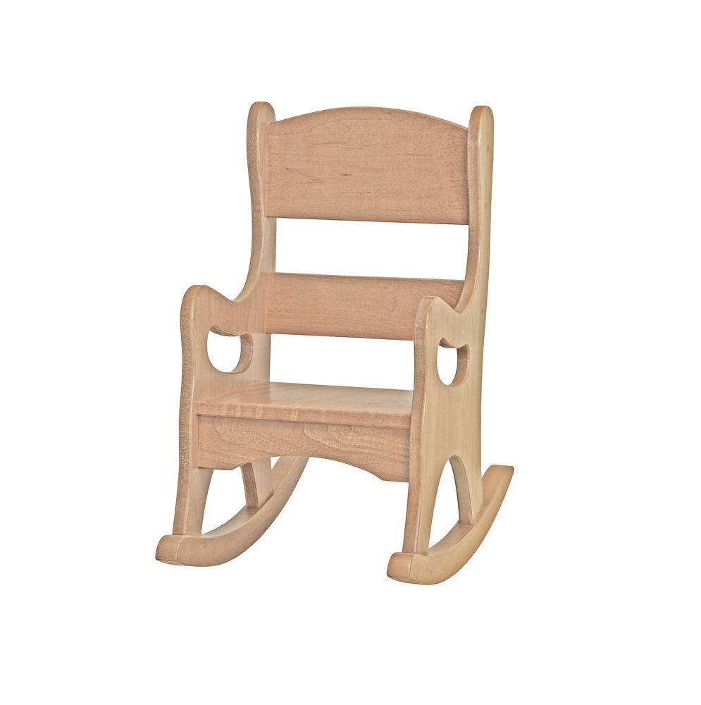 Children 39 S Rocking Chair Amish Handmade Maple Wood Furniture Natural Finish Usa Play Tables