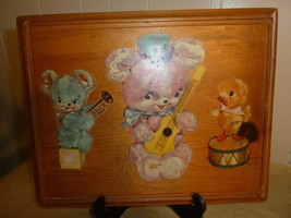 Vintage Baby / Kids Room Decoration Art Wood Pl... - $27.71