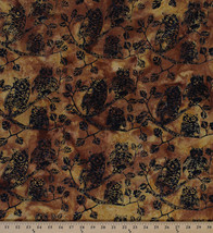 Thanksgiving Owls Leaves Tree Branches Cotton Batik Fabric Print by Yard... - $8.94