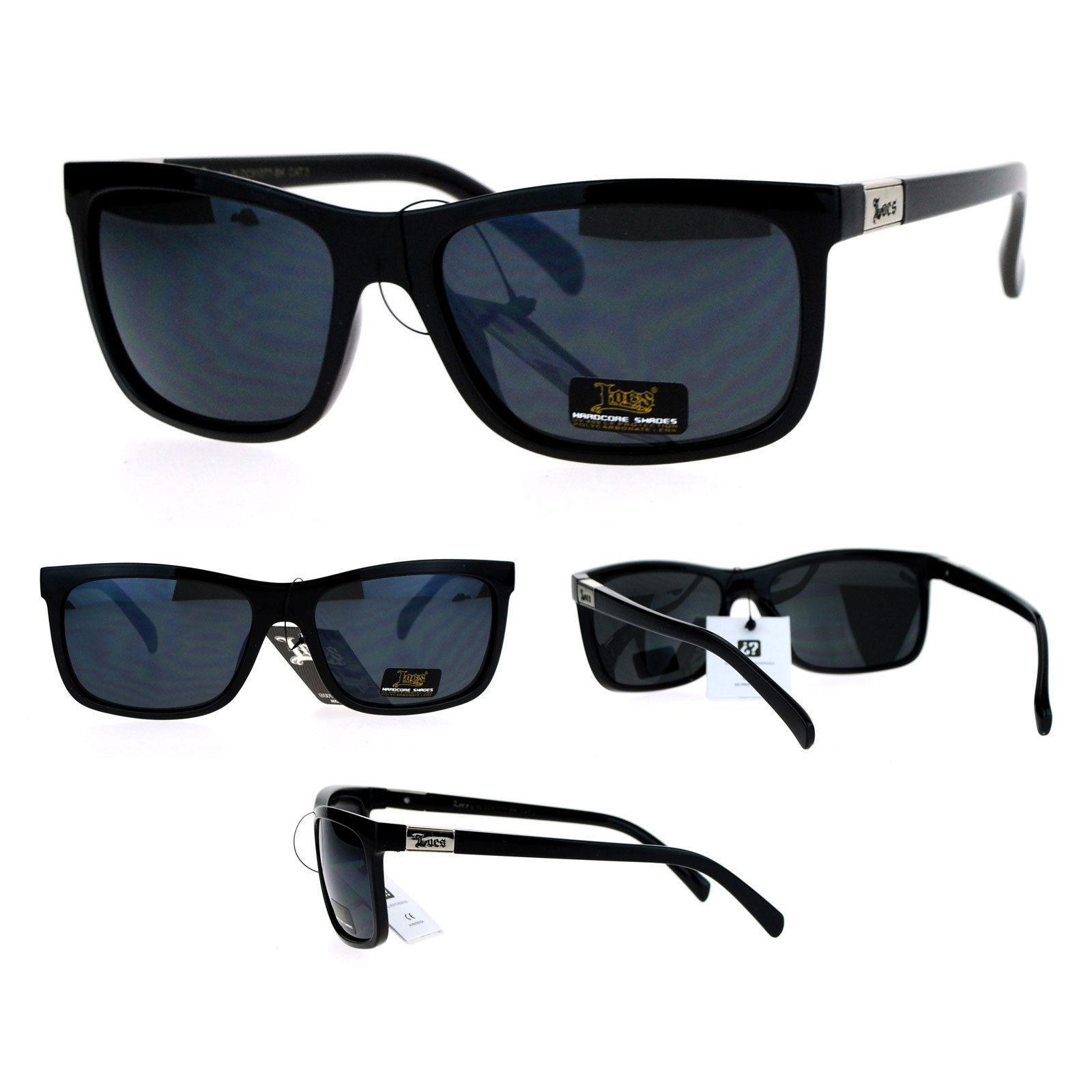 d385ef377d5 Locs Gangster Thin Plastic All Black Mens Cholo Sunglasses - Sunglasses
