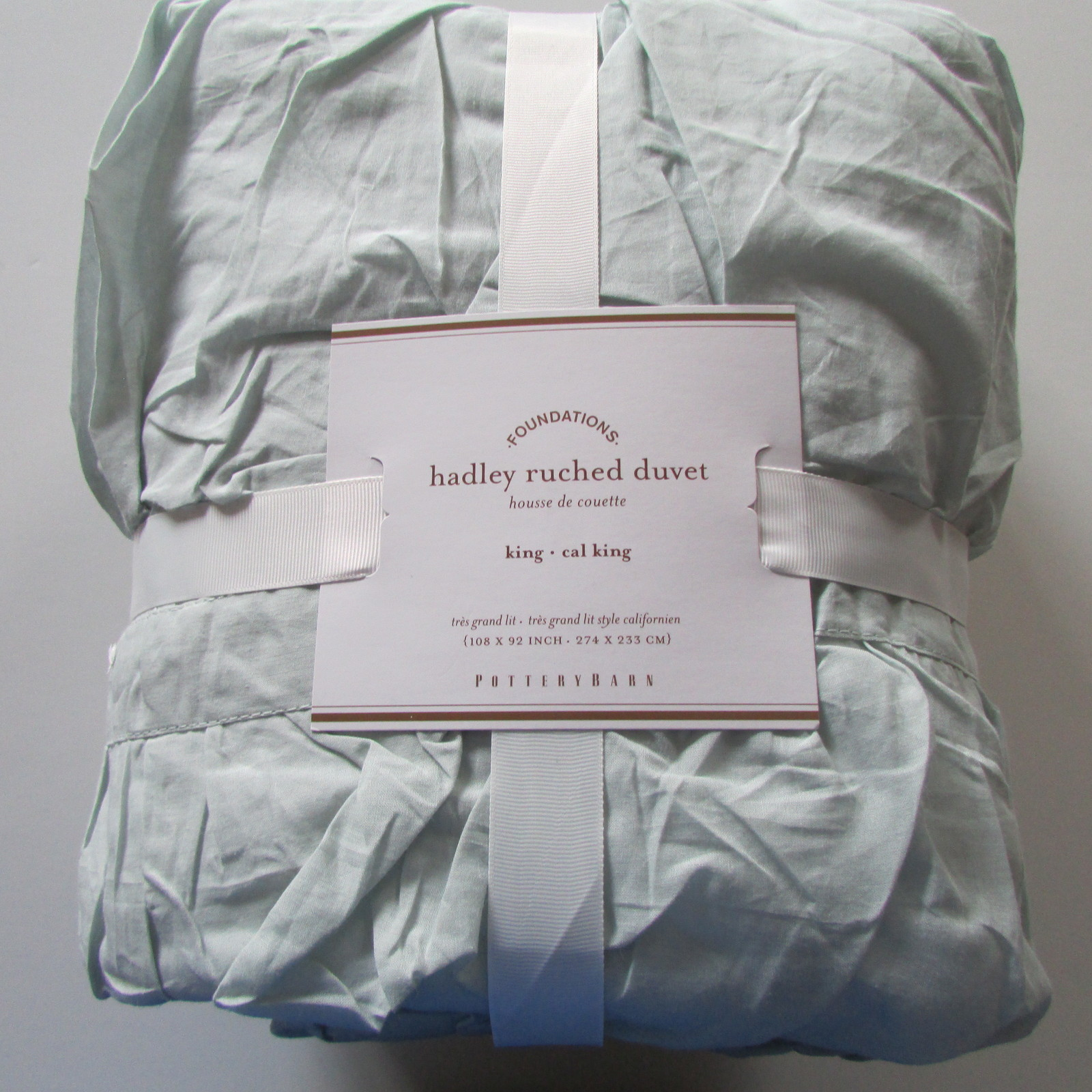 Pottery Barn Hadley Ruched Duvet Cover King California
