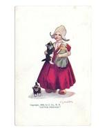 Bernhardt Wall Little Friends Dutch Girl Doll Kittens Vintage 1905 Postcard - $4.99