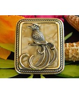 Vintage Bird of Paradise Brooch Pin Lucite Moth... - $24.95