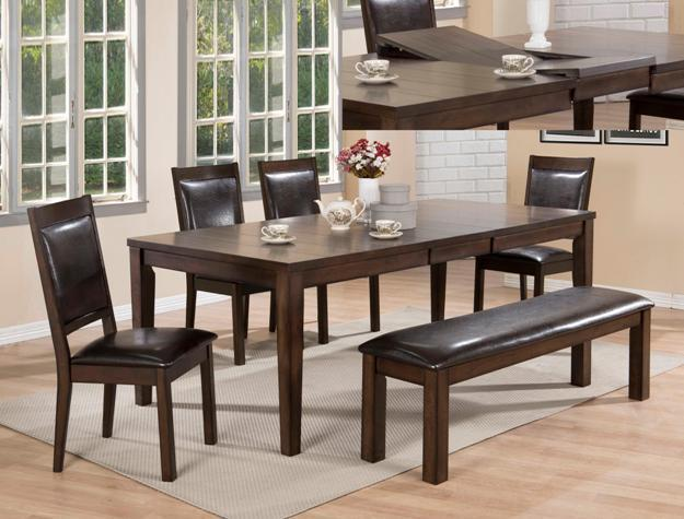 Crown Mark 2333 Dining Room Set 6pc. Lottie Collection Transitional Style