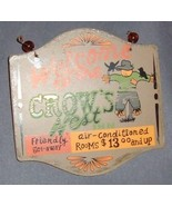 "Autumn/Halloween Sign ""Welcome to the Crow's Nest""-New - $5.00"