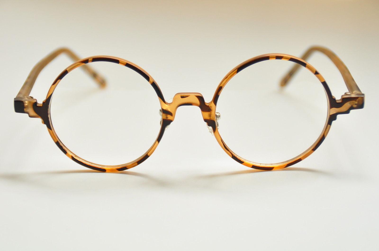 Vintage Tortoise Shell Eyeglass Frames : Vintage Round Eyeglass Frames Retro Spectacles Eyewear RX ...