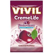 VIVIL Creme Life hard candies: CHERRY Sugar free  -1 bag - FREE US SHIPPING - $8.86