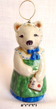 Salamander Ceramic Pottery Bell 1985 Girl Bear ... - $45.00