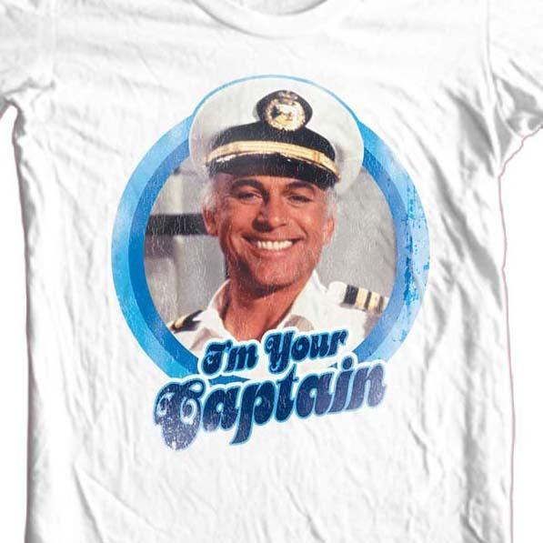 The love boat captain tshirt white cbs176