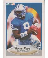 Rodney Peete 1990 Fleer Card #283 - $0.99