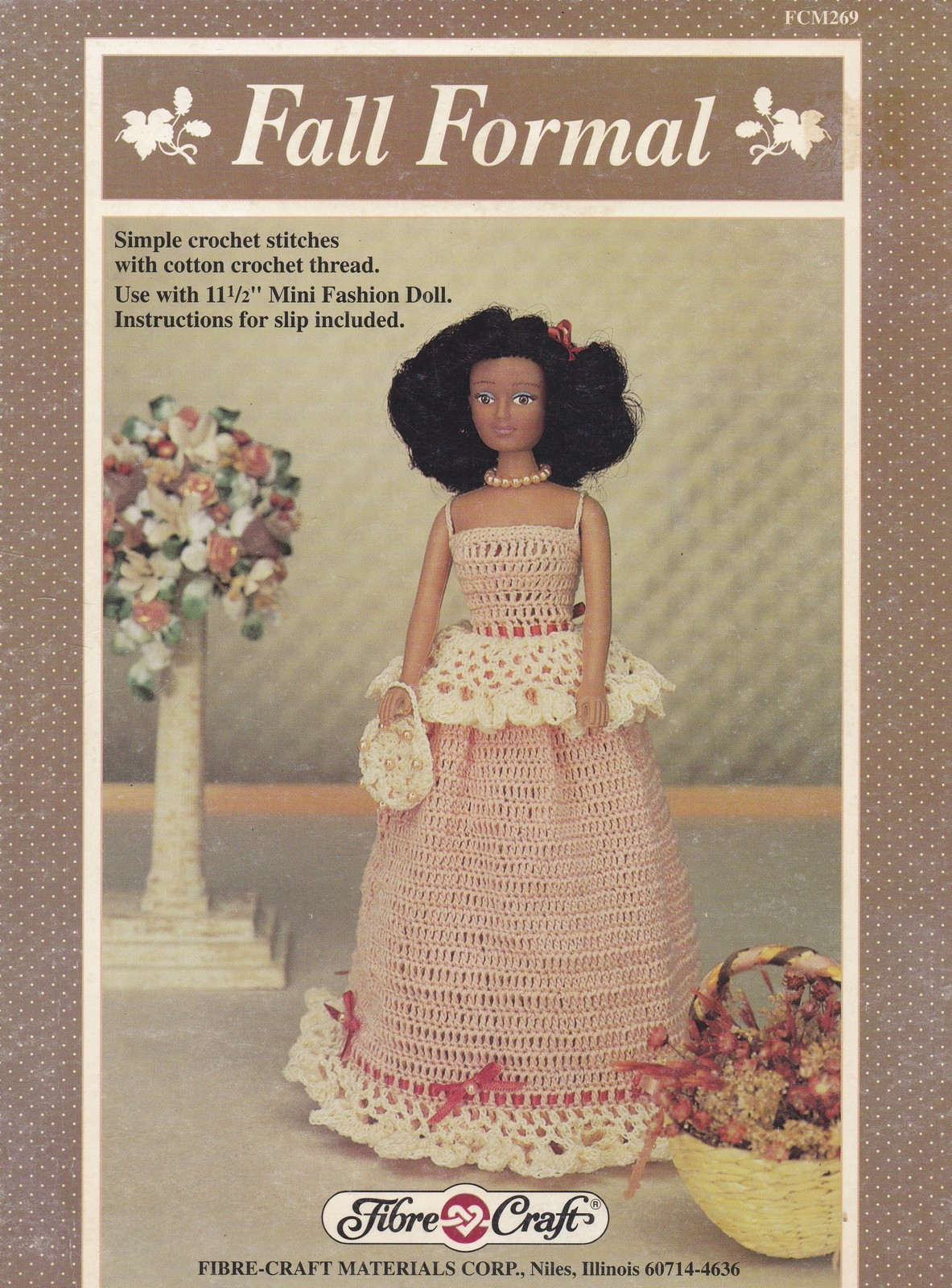 "Queen of Gold 15/"" Doll Outfit Fibre Craft Crochet Pattern//Instructions Leaflet"