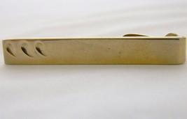Vintage 60s Swank Tie Bar Clip Clasp Gold Tone Mid Century Men's Tie Acc... - $9.49