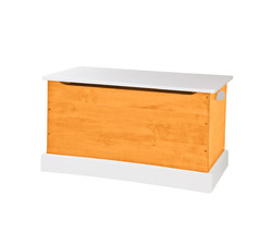 WOOD TOY BOX Amish Handmade Storage Chest ~ Orange & White Small Medium & Large - $280.14+